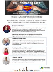'Vitaliteit in lijf en bedrijf' HR-themadag