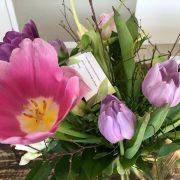 Klantgeluk -bloemen ter waardering